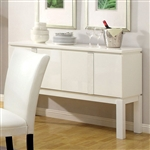 Lamia I Server by Furniture of America - FOA-CM3176WH-SV