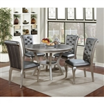 Amina 5 Piece Round Table Dining Room Set by Furniture of America - FOA-CM3219RT
