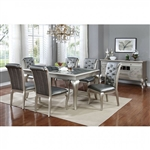 "Amina 7 Piece 66"" Dining Room Set by Furniture of America - FOA-CM3219T-66"