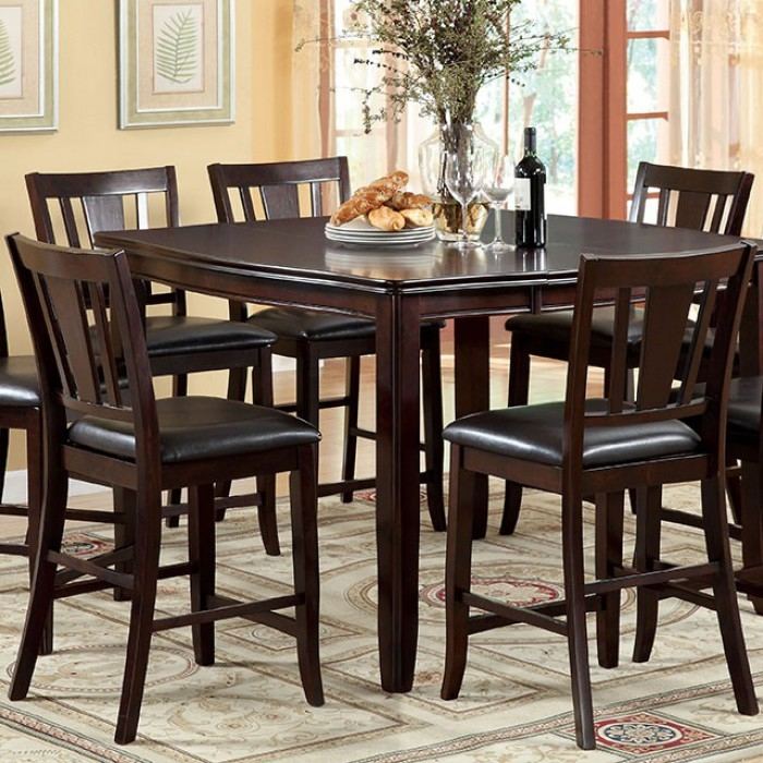Edgewood ii 7 piece counter height dining set by furniture for Vs furniture america