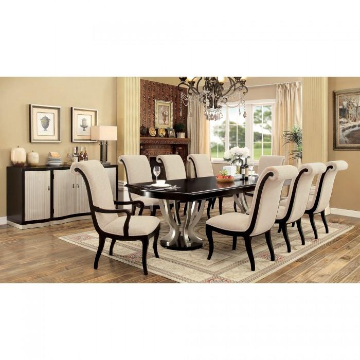 ornette 7 piece dining room setfurniture of america - foa-cm3353t