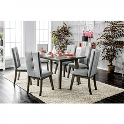 Abelone 7 Piece Dining Room Set by Furniture of America - FOA-CM3354GY-T