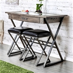 Glasby 3 Piece Bar Table Set by Furniture of America - FOA-CM3369BT