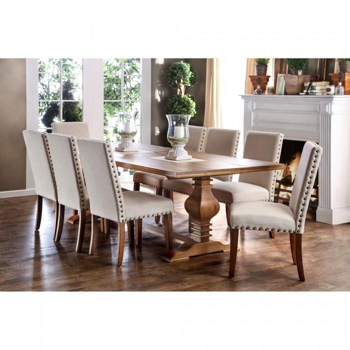 macapa 7 piece dining room setfurniture of america - foa-cm3441t