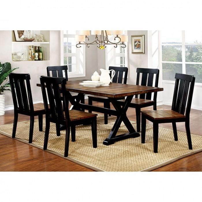 alana 7 piece dining room setfurniture of america - foa-cm3668t