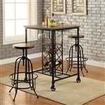 Silvia I 3 Piece Bar Table Dining Set by Furniture of America - FOA-CM3803BT