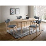 Kochab 5 Piece Oval Dining Table Set by Furniture of America - FOA-CM3876OT