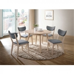 Kochab 5 Piece Round Dining Table Set by Furniture of America - FOA-CM3876RT