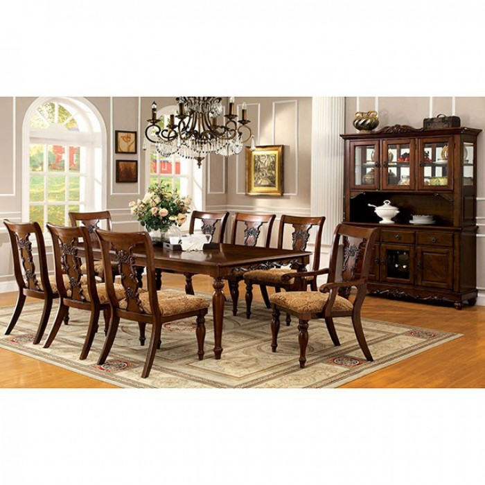Traditional Dining Room Set: Seymour 7 Piece Formal Dining Room Set By Furniture Of