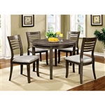 "Dwight III 5 Piece 42"" Round Table Dining Room Set by Furniture of America - FOA-CM3988GY-RT"
