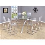 Zora 7 Piece Counter Height Dining Set by Furniture of America - FOA-CM3992PT
