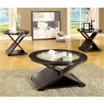 Orbe 3 Piece Occasional Table Set in Espresso by Furniture of America - FOA-CM4006-3PK