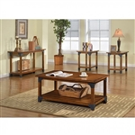 Bozeman 3 Piece Occasional Table Set in Antique Oak by Furniture of America - FOA-CM4102-3PK