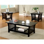 Milford 3 Piece Occasional Table Set in Black by Furniture of America - FOA-CM4146-3PK