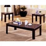 Town Square I 3 Piece Occasional Table Set in Espresso by Furniture of America - FOA-CM4168-3PK