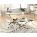 Serra 3 Piece Occasional Table Set in Champagne by Furniture of America - FOA-CM4220-3PK