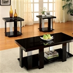 Lakoti I 3 Piece Occasional Table Set in Black by Furniture of America - FOA-CM4240BK-3PK