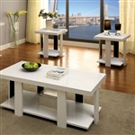 Lakoti I 3 Piece Occasional Table Set in White by Furniture of America - FOA-CM4240WH-3PK