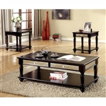 Horace 3 Piece Occasional Table Set in Espresso by Furniture of America - FOA-CM4242-3PK
