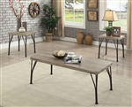 Majorca 3 Piece Occasional Table Set in Gray/Dark Bronze by Furniture of America - FOA-CM4279-3PK