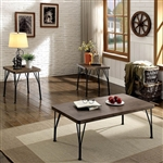 Majorca 3 Piece Occasional Table Set in Brown/Dark Bronze by Furniture of America - FOA-CM4279BR-3PK