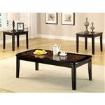 Hartly 3 Piece Occasional Table Set in Black by Furniture of America - FOA-CM4316-3PK