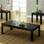 Bay Square 3 Piece Occasional Table Set in Black by Furniture of America - FOA-CM4329-3PK