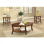 Paola 3 Piece Occasional Table Set in Brown Cherry by Furniture of America - FOA-CM4334-3PK