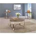 Wicklow 3 Piece Occasional Table Set in Rustic Oak by Furniture of America - FOA-CM4364-3PK