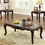 Colchester 3 Piece Occasional Table Set in Dark Cherry by Furniture of America - FOA-CM4423-3PK
