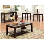 Townsend III 3 Piece Occasional Table Set in Dark Cherry by Furniture of America - FOA-CM4669-3PK