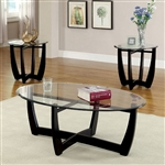 Dafni 3 Piece Occasional Table Set in Black by Furniture of America - FOA-CM4848-3PK