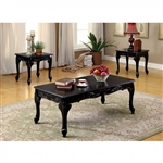 Cheshire 3 Piece Occasional Table Set in Black by Furniture of America - FOA-CM4914BK-3PK