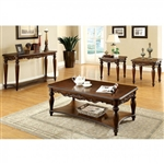 Bunbury 3 Piece Occasional Table Set in Cherry by Furniture of America - FOA-CM4915-3PK