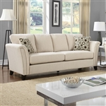 Campbell Sofa in Ivory by Furniture of America - FOA-CM6095IV-SF