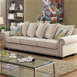 Skyler Sofa in Ivory by Furniture of America - FOA-CM6155-SF