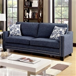 Kerian 2 Piece Sofa Set in Chenille by Furniture of America - FOA-CM6157BL