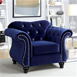 Jolanda Chair in Blue by Furniture of America - FOA-CM6159BL-CH
