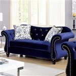 Jolanda Love Seat in Blue by Furniture of America - FOA-CM6159BL-LV