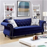 Jolanda Sofa in Blue by Furniture of America - FOA-CM6159BL-SF