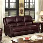 Turton Sofa in Burgundy by Furniture of America - FOA-CM6191BY-SF