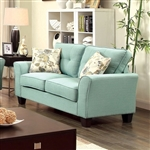 Claire Love Seat in Blue by Furniture of America - FOA-CM6266BL-LV