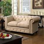 Stanford Love Seat in Ivory by Furniture of America - FOA-CM6269IV-LV