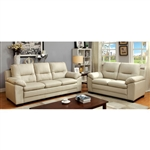 Parma 2 Piece Sofa Set in Ivory by Furniture of America - FOA-CM6324IV
