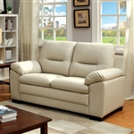Parma Love Seat in Ivory by Furniture of America - FOA-CM6324IV-LV