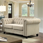 Winifred Love Seat in Ivory by Furniture of America - FOA-CM6342IV-LV
