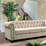 Winifred Sofa in Ivory by Furniture of America - FOA-CM6342IV-SF