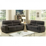 Elly 2 Piece Sofa Set in Graphite by Furniture of America - FOA-CM6504