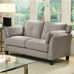 Ysabel Love Seat in Warm Gray by Furniture of America - FOA-CM6716GY-LV