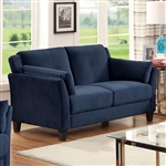 Ysabel Love Seat in Navy by Furniture of America - FOA-CM6716NV-LV